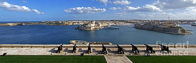 Photograph - Valletta Grand Harbour In Malta by Mary Attard