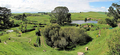 Photograph - Valley At Hobbiton Nz by C H Apperson