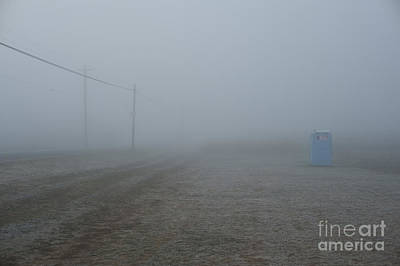 Photograph - Valley Fog With Honey Bucket Along Side Of Rural Road by Jim Corwin