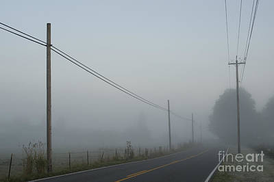 Photograph - Valley Fog With Rural Back Road by Jim Corwin