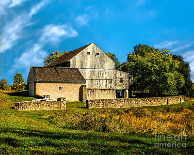 Photograph - Valley Forge Barn by Nick Zelinsky