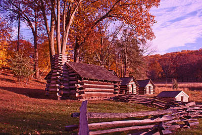 Photograph - Valley Forge Cabin In Autumn by Michael Porchik