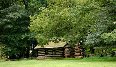 Valley Forge Cabin Art Print by Sherlyn Morefield Gregg