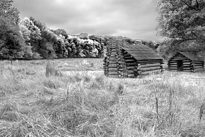 Photograph - Valley Forge Cabins by Michael Porchik