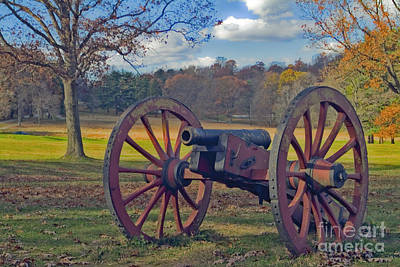 Photograph - Valley Forge Cannon by David Zanzinger