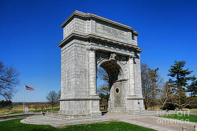 Photograph - Valley Forge National Memorial Arch by Olivier Le Queinec