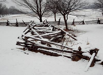 Photograph - Valley Forge Snow by Michael Porchik