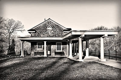 Valley Forge Train Station In Sepia Art Print by Bill Cannon