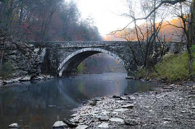 Wissahickon Creek Photograph - Valley Green Bridge Along The Wissahickon Creek by Bill Cannon