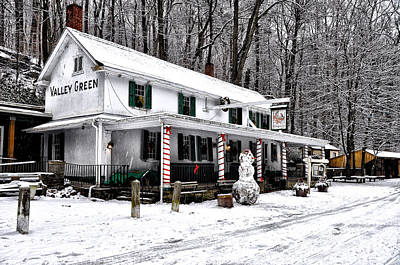 Wissahickon Photograph - Valley Green In Winter by Bill Cannon