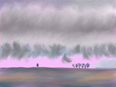 Digital Art - Valley Horizon On My Morning Walk by Dawn Senior-Trask