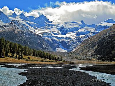 Valley Of A Glacier Print by Elvis Vaughn