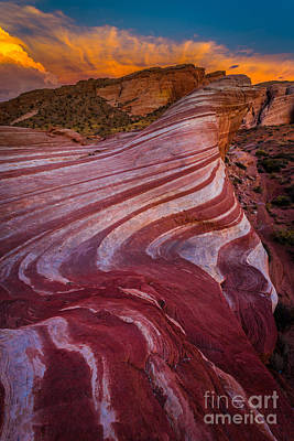 Valley Of Fire Art Print by Inge Johnsson