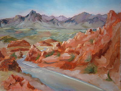 Painting - Valley Of Fire by Luz Perez