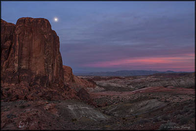 Photograph - Valley Of Fire Moonrise by Erika Fawcett