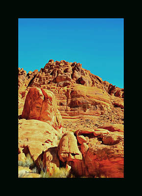 Painting - Valley Of Fire Nevada State Park 2 Duvet by Barbara Snyder