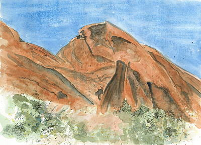 Painting - Valley Of Fire - Sketch by Joel Deutsch