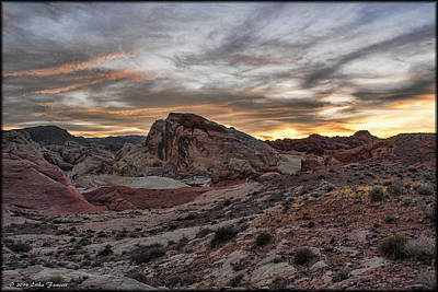 Photograph - Valley Of Fire Sunset by Erika Fawcett