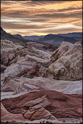 Photograph - Valley Of Fire Watercolor by Erika Fawcett