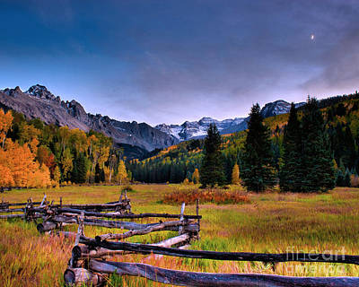 Valley Of Mt Sneffels Art Print by Steven Reed