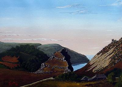 Valley Of Rocks Devon Art Print by Richard Taylor