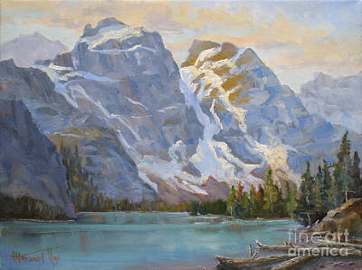 Beautiful Scenery Painting - Valley Of Ten Peaks by Mohamed Hirji