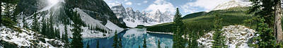 Valley Of The Ten Peaks, Banff National Art Print by Panoramic Images