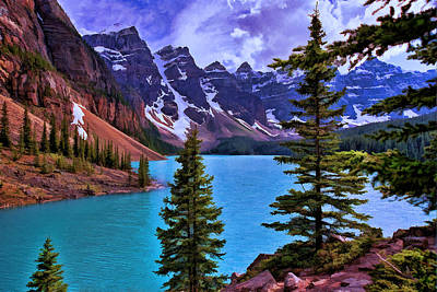 Photograph - Valley Of The Ten Peaks - Banff National Park by Allen Beatty