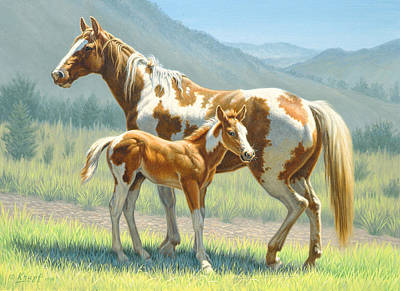 Paint Horse Painting - Valley Paints by Paul Krapf