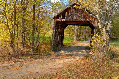 Photograph - Valley Pike Or Bouldin Covered Bridge by Jack R Perry