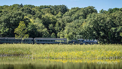 Deep River Photograph - Valley Railroad Pratt Cove by Edward Fielding