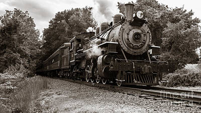 Photograph - Valley Railroad Steam Train by Edward Fielding