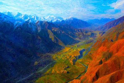 Digital Art - Valley Shadows by Chuck Mountain