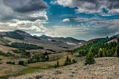 Valley View In The Lost River Moutains Art Print by Robert Bales