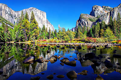 Valley View Reflection Yosemite National Park Art Print