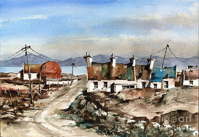 Painting - Valley Village Achill  Mayo by Val Byrne