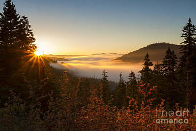 Photograph - Valleys Of Mist by Idaho Scenic Images Linda Lantzy