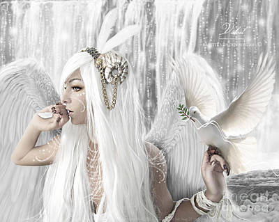 Dove Digital Art - Valoel by Babette Van den Berg