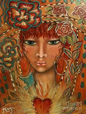 Ear Rings Painting - Valor by Maya Telford