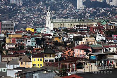 Valparaiso Photograph - Valparaiso Buildings by John Rizzuto