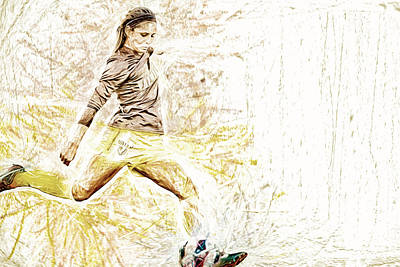 Photograph - Valparaiso Soccer Sydney Rumple Painted Digitally Etc by David Haskett