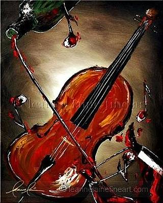 Wine Painting - Valpoli-cello Wine Art Painting by Leanne Laine