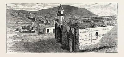 Canary Drawing - Valverde Church, Ferro by English School