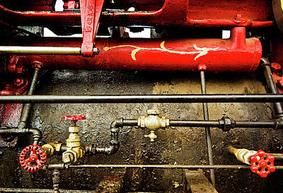 Valves Lines And Tanks Art Print by Dale Stillman