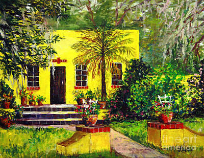 Art Print featuring the painting Vamo Road House by Lou Ann Bagnall
