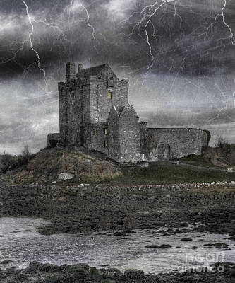 Lightning Photograph - Vampire Castle by Juli Scalzi