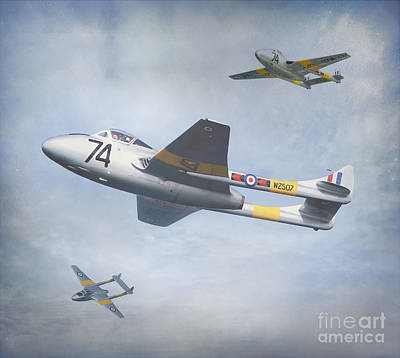 Art Print featuring the photograph Vampire Jet II by Roy  McPeak