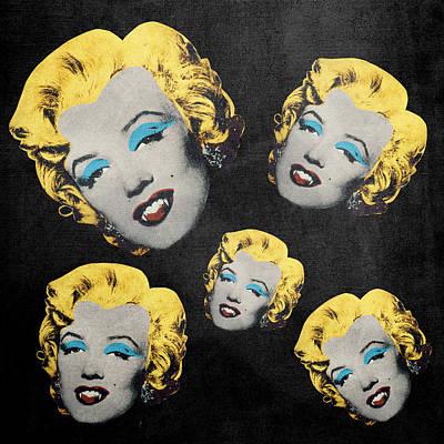 Dracula Digital Art - Vampire Marilyn 5 by Filippo B