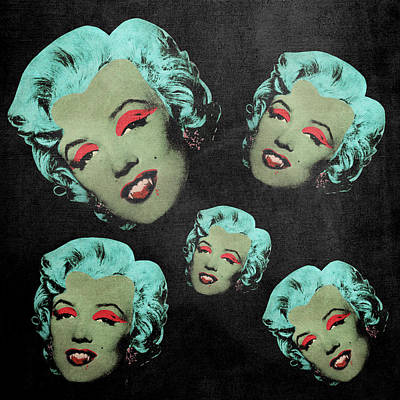 Vampire Marilyn 5a Art Print by Filippo B