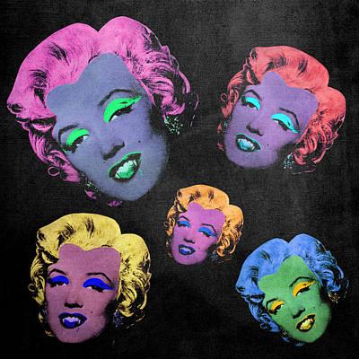 Dracula Digital Art - Vampire Marilyn 5b by Filippo B